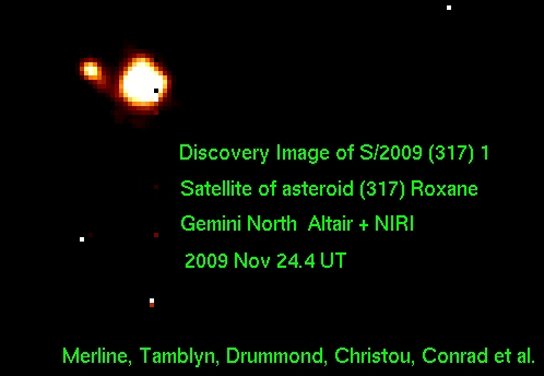 Discovery image of the satellite of (317) Roxane